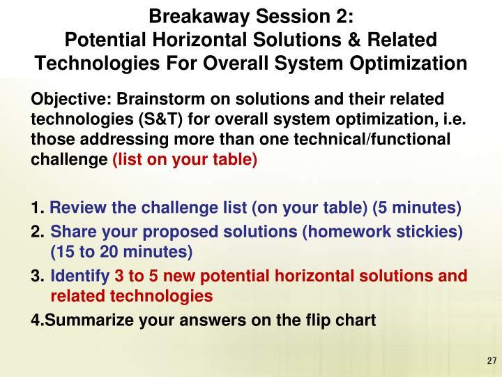 Breakaway Session 2: