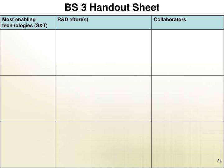BS 3 Handout Sheet