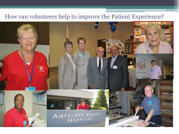 How can volunteers help to improve the Patient Experience?