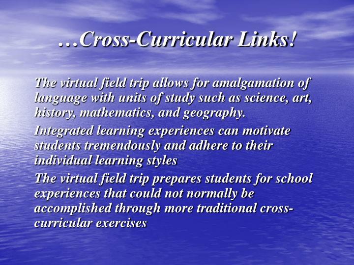…Cross-Curricular Links!