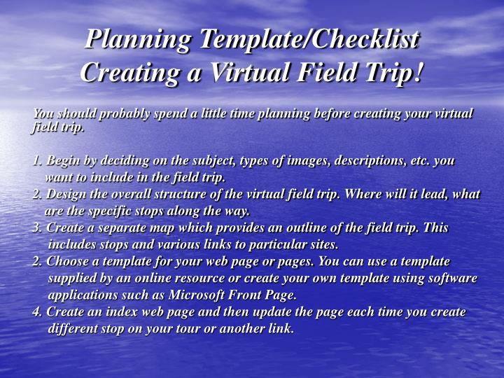 Planning Template/Checklist