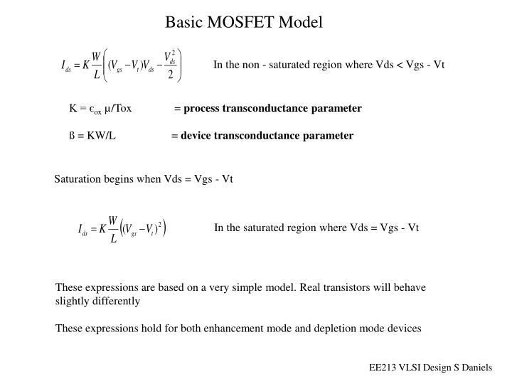 Basic MOSFET Model