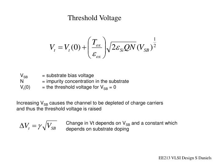 Threshold Voltage