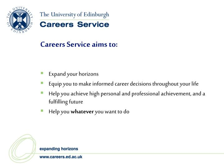 Careers Service aims to: