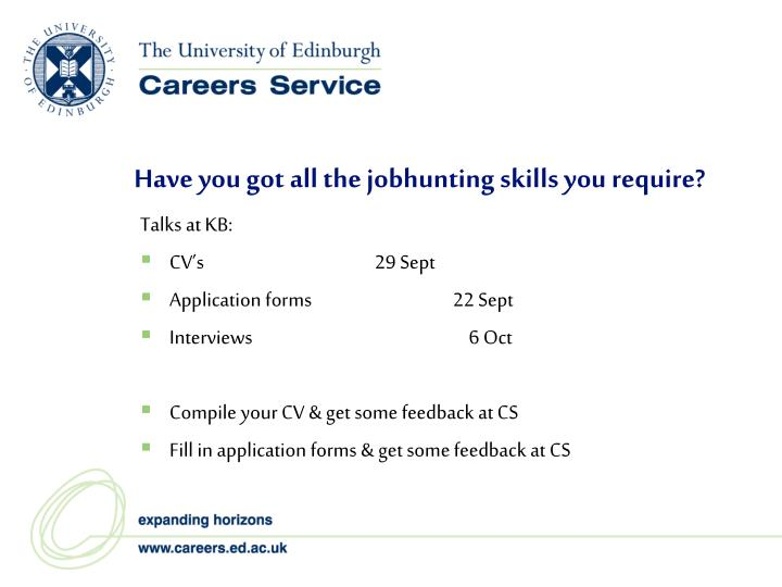 Have you got all the jobhunting skills you require?