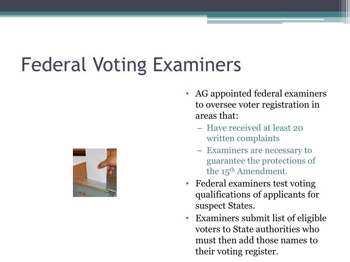 Federal Voting Examiners