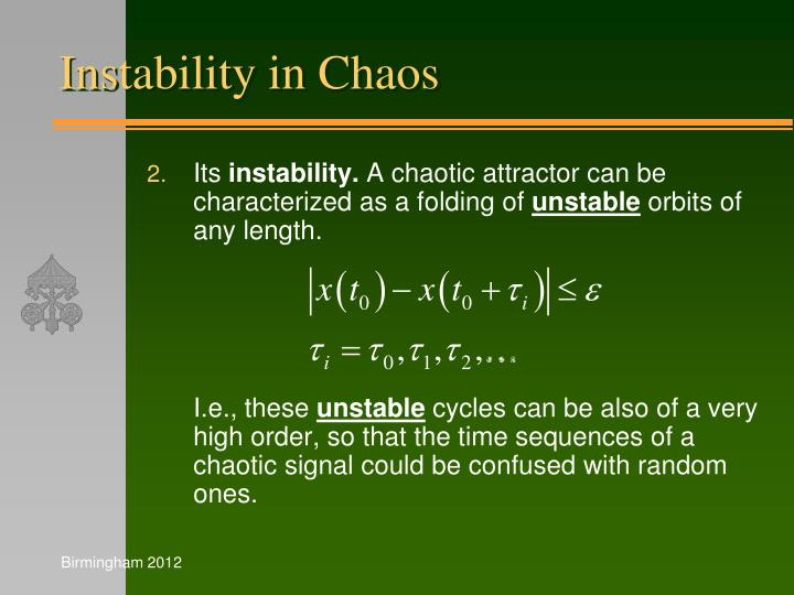 Instability in Chaos