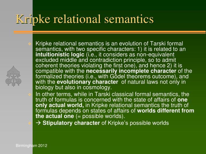 Kripke relational semantics