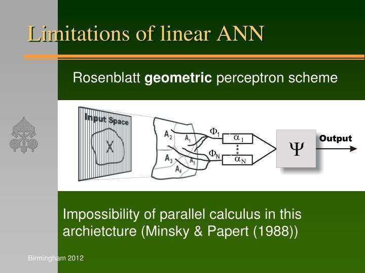 Limitations of linear ANN