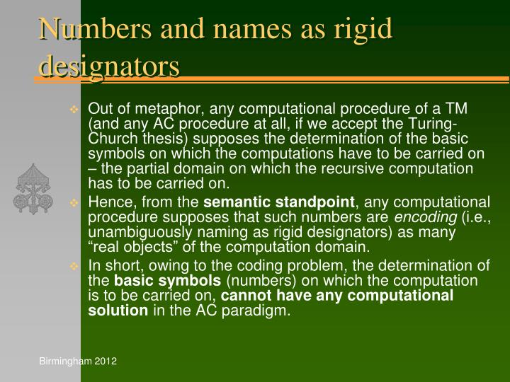 Numbers and names as rigid designators