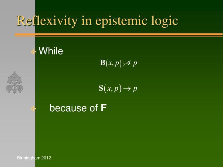 Reflexivity in epistemic logic