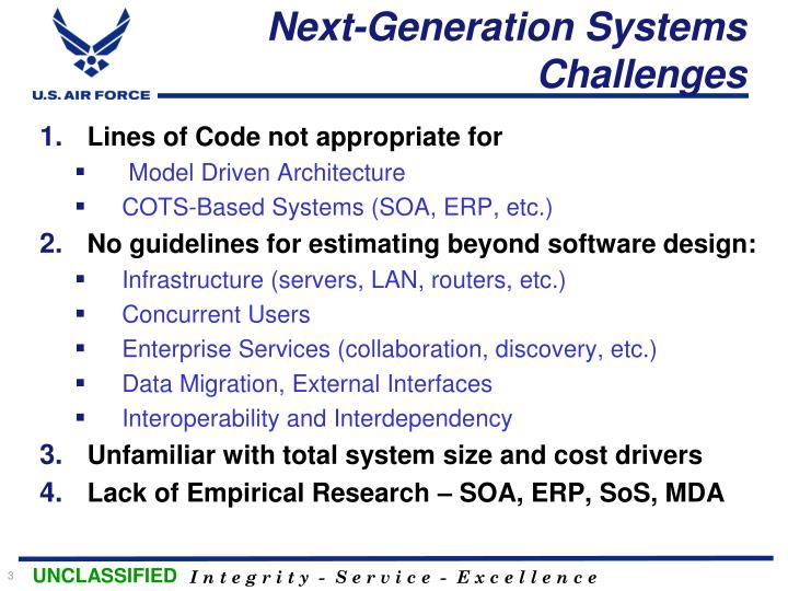 Next generation systems challenges