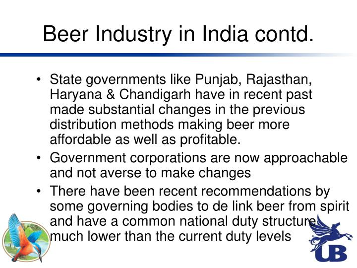 Beer Industry in India contd.