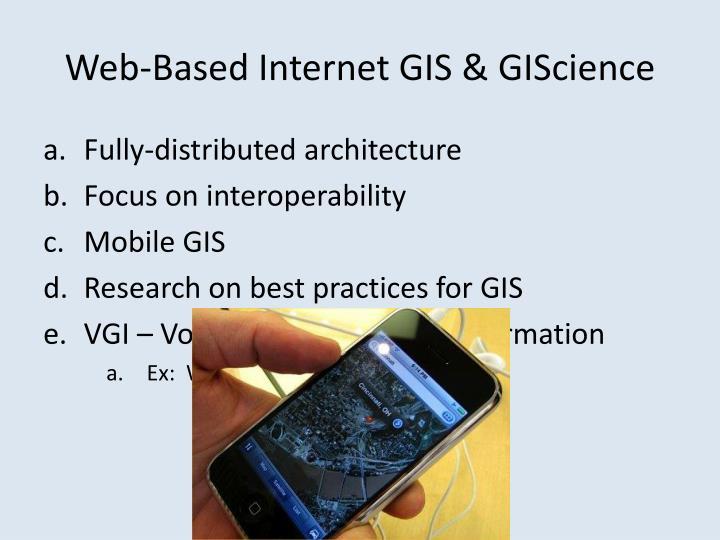 Web-Based Internet GIS &