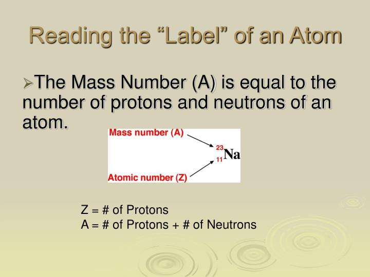 """Reading the """"Label"""" of an Atom"""