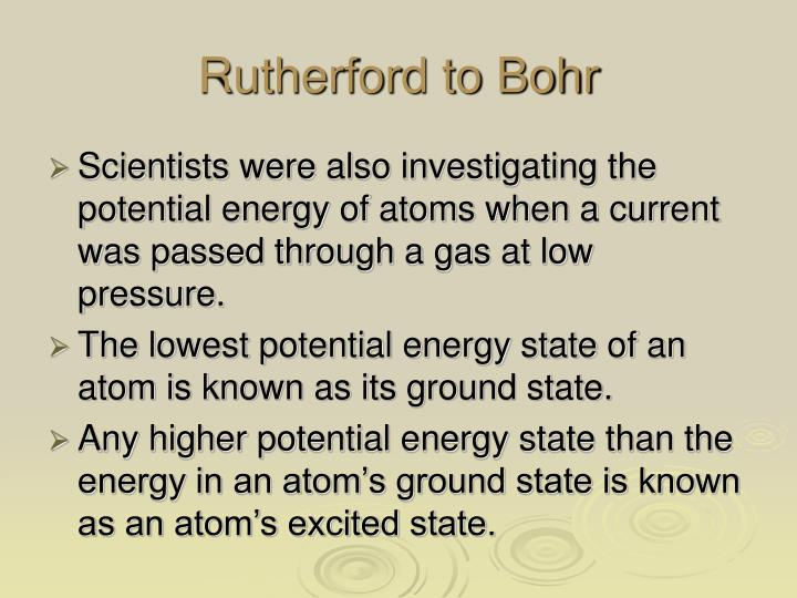 Rutherford to Bohr