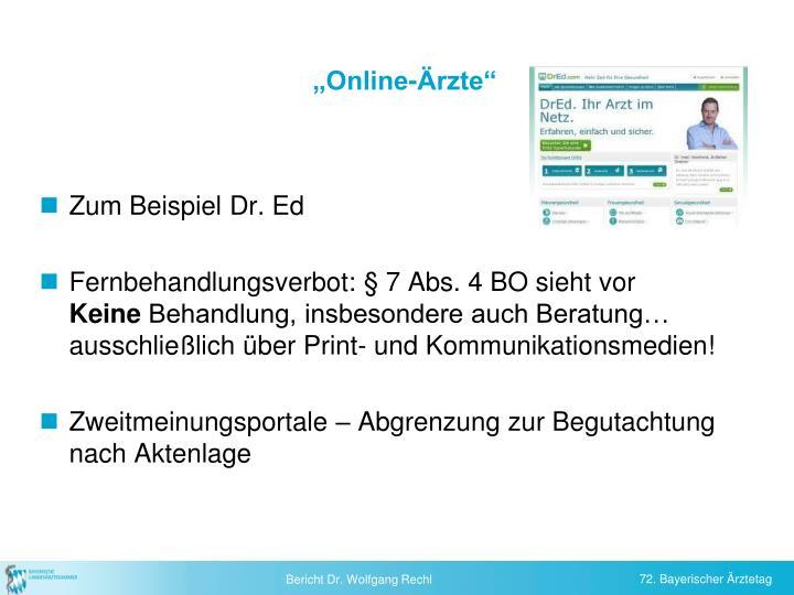 """""""Online-Ärzte"""""""