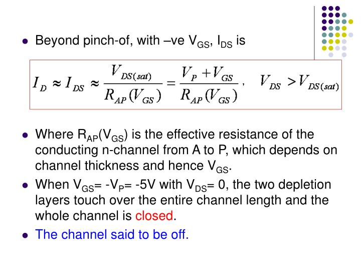 Beyond pinch-of, with –ve V