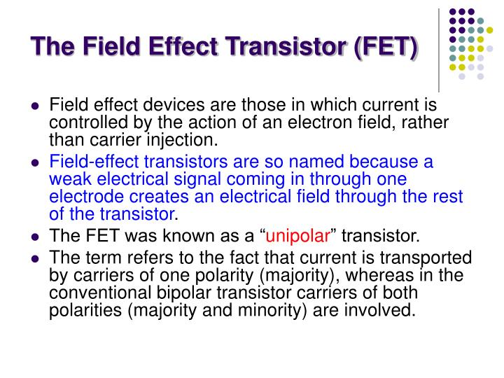 The field effect transistor fet1