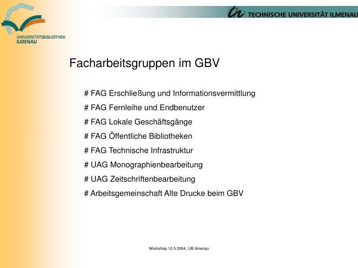 Facharbeitsgruppen im GBV