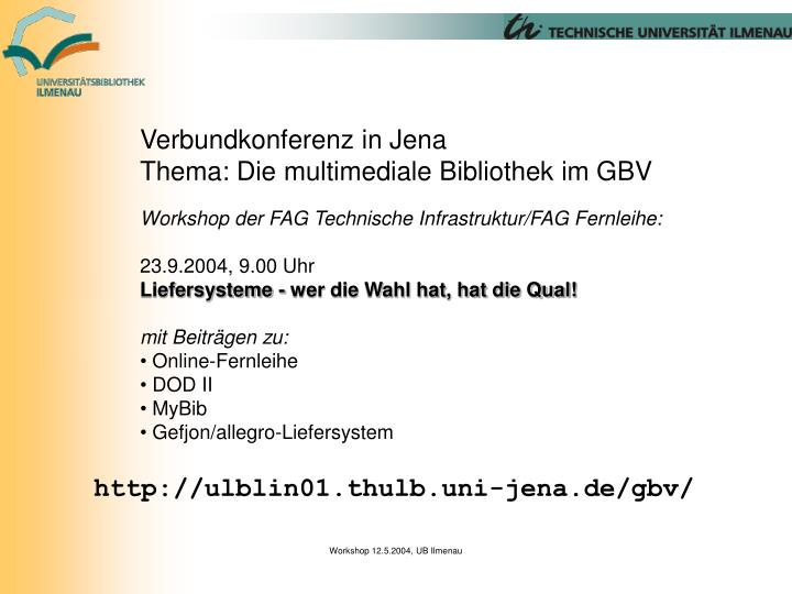 Verbundkonferenz in Jena