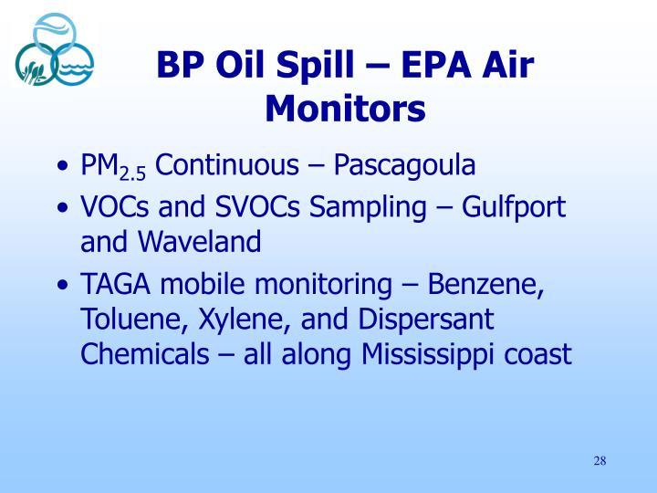 BP Oil Spill – EPA Air Monitors