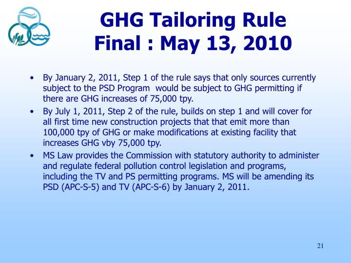 GHG Tailoring Rule