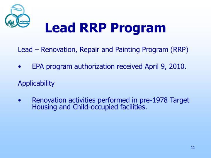 Lead RRP Program