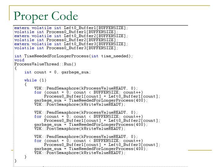 Proper Code