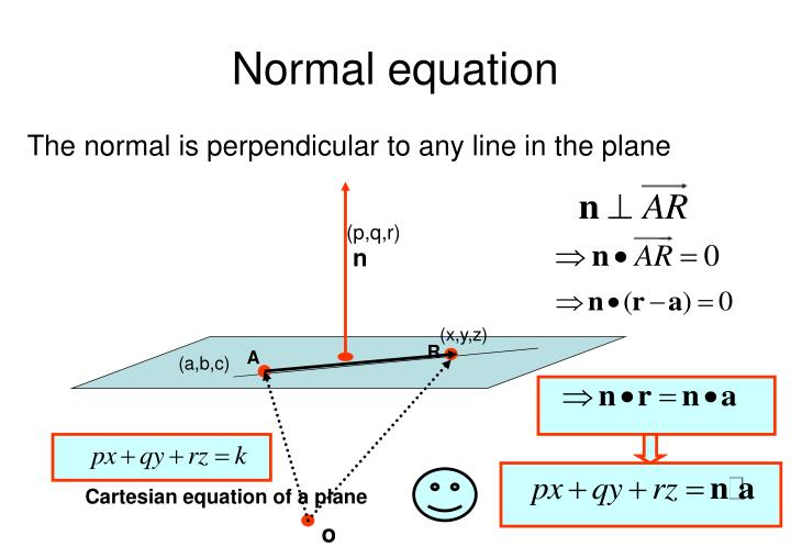 Normal equation