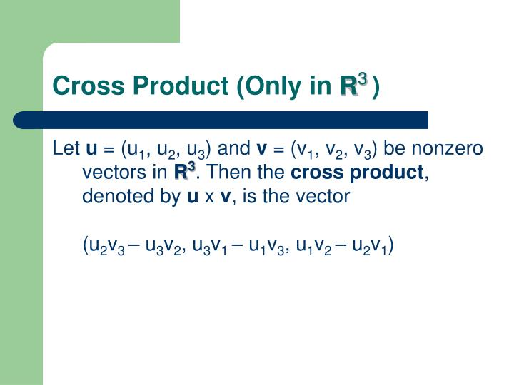 Cross Product (Only in