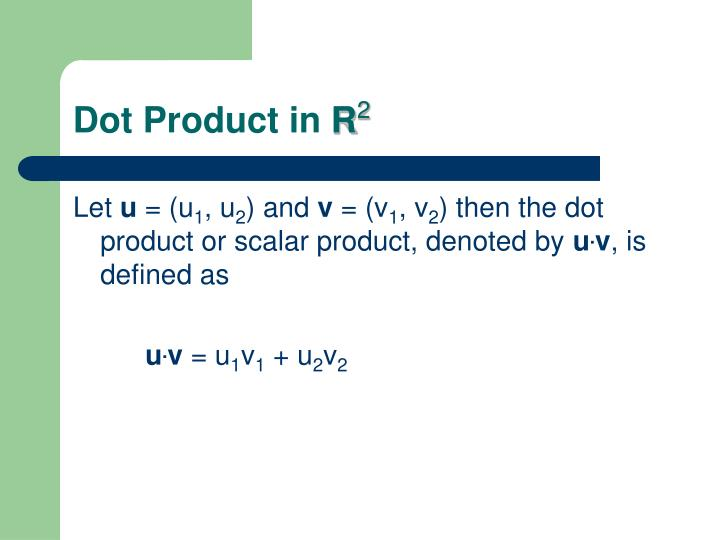 Dot Product in