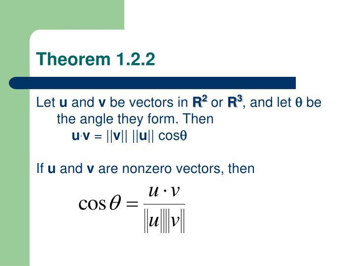 Theorem 1.2.2