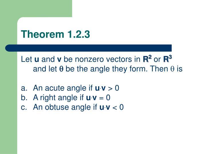 Theorem 1.2.3