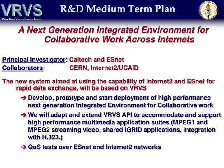 R&D Medium Term Plan