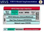 vrvs model implementation