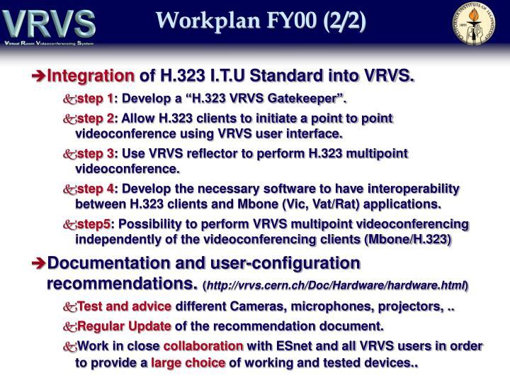 Workplan FY00 (2/2)