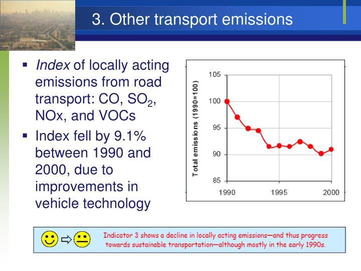 3. Other transport emissions