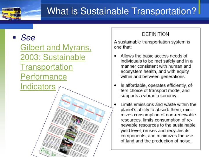 What is Sustainable Transportation?
