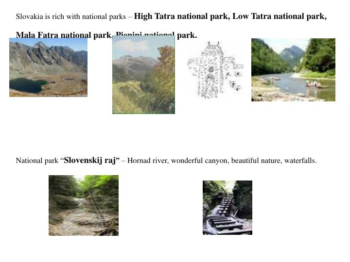 Slovakia is rich with national parks –