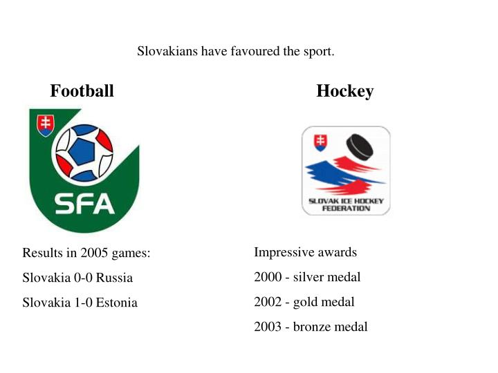 Slovakians have favoured the sport.