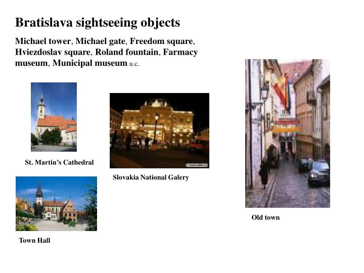 Bratislava sightseeing objects