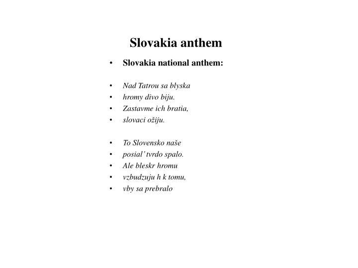 Slovakia anthem