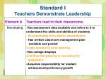 standard i teachers demonstrate leadership