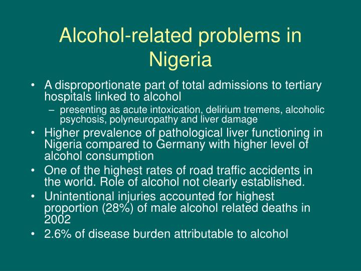 Alcohol-related problems in Nigeria