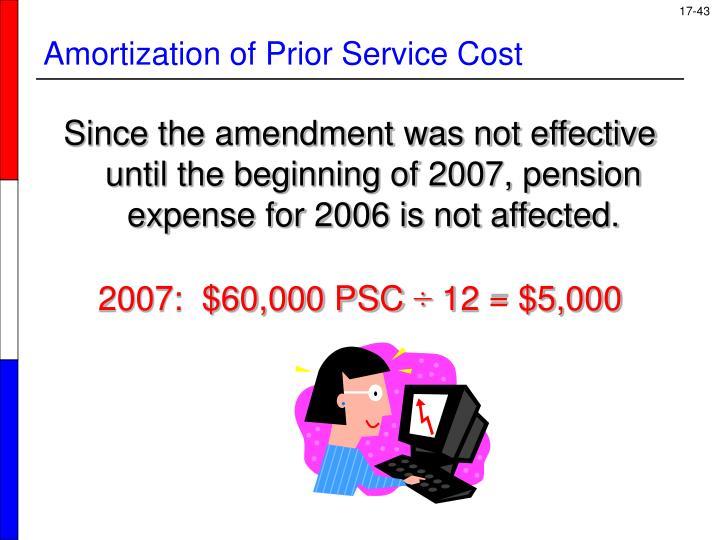 Amortization of Prior Service Cost