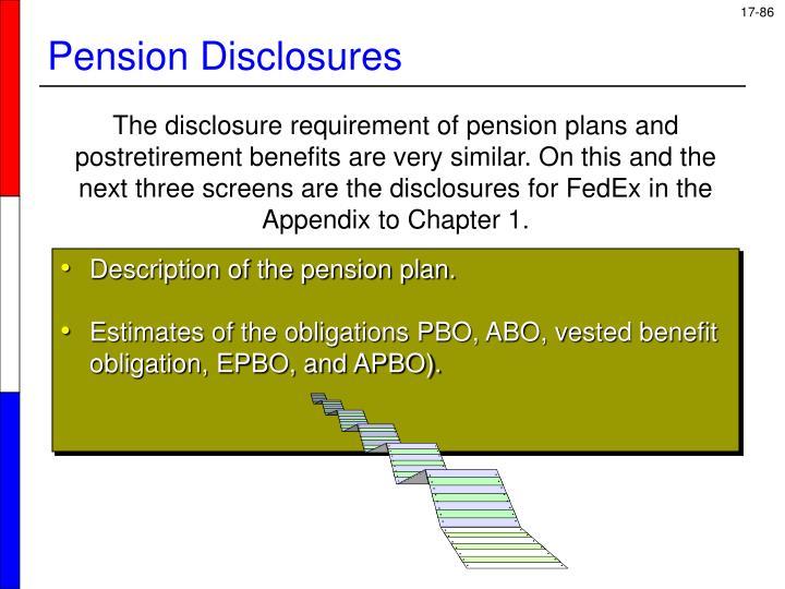 Description of the pension plan.