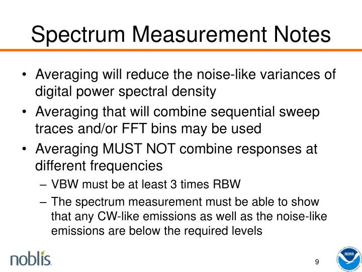 Spectrum Measurement Notes