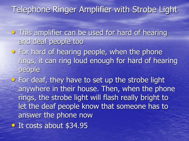 Telephone Ringer Amplifier with Strobe Light