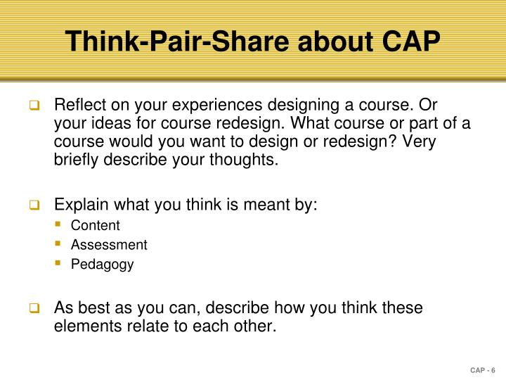 Think-Pair-Share about CAP